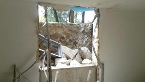 Egress window concrete cutting