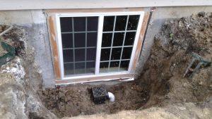 The installed egress window.
