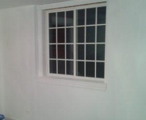 Interior view of egress window